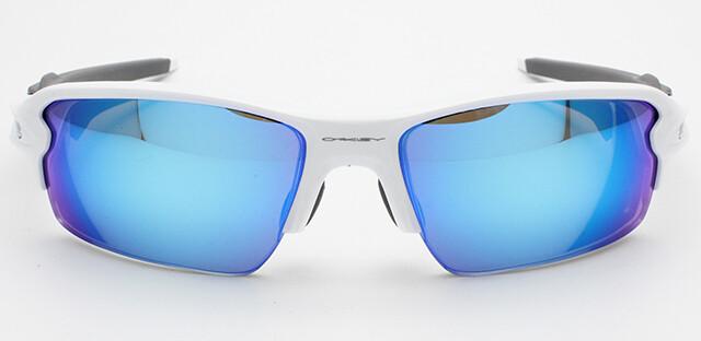 OAKLEY(オークリー) FLAK2.0(フラック2.0)度付きサングラス Polished White×Sapphire Iridium!!